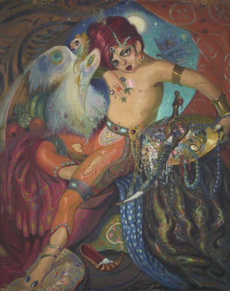 Wifredo Lam-Judio (Indio Con El Buho)-1925