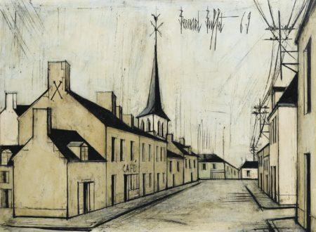 Bernard Buffet-Rue De Village-1969