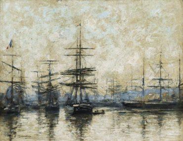 Eugene Louis Boudin-Le Havre. L'Avant-Port-1887