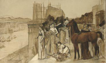 Edgar Degas-Semiramis Construisant Une Ville-1861