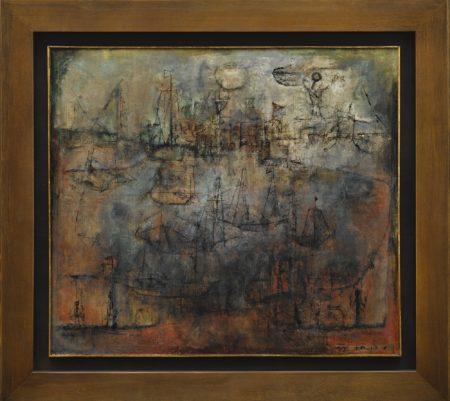 Zao Wou-Ki-Bateaux Au Clair De Lune-