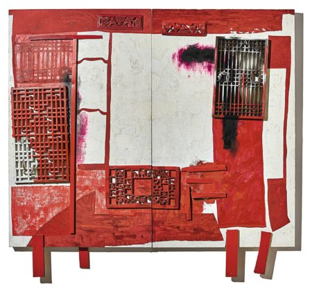 Wang Huaiqing-House In A House-Red Bed (Diptych)-2002