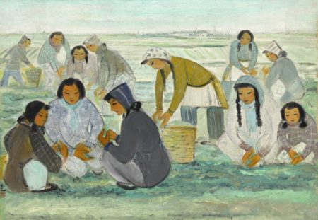 Lin Fengmian-Harvest At Dawn-1950