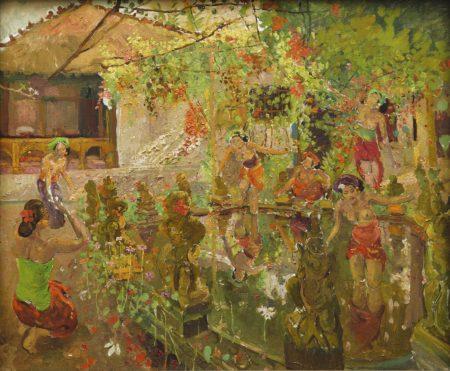 Adrien Jean Le Mayeur De Merpres-The Lotus Pond-