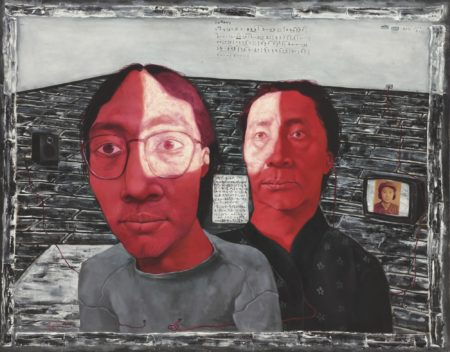 Zhang Xiaogang-Bloodline: Mother And Son No.1-1993