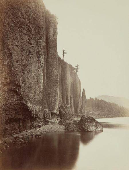 Carleton Watkins-Cape Horn, Columbia River-1867