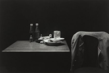 Roy DeCarava-Catsup Bottles, Table and Coat, New York-1952