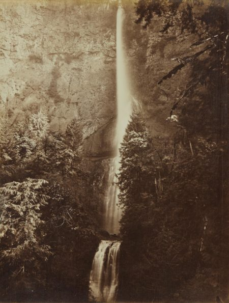 Carleton Watkins-Multnomah Falls Cascade, Columbia River-1867