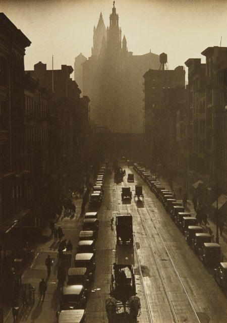 Consuelo Kanaga-Downtown, New York-1924