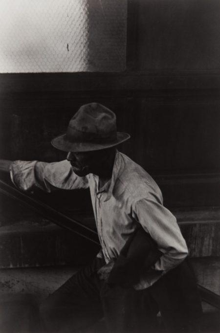 Roy DeCarava-Man Coming Up Subway Stairs-1952
