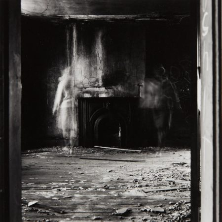 Ralph Eugene Meatyard-Untitled, (two ghosts with fireplace)-1969