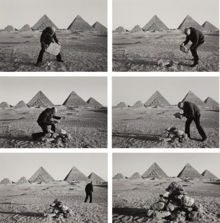 Duane Michals-I Build a Pyramid-1978