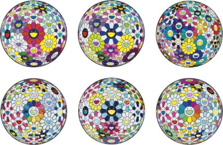 Takashi Murakami-Flowerball Series And Other (Six Works)-2015