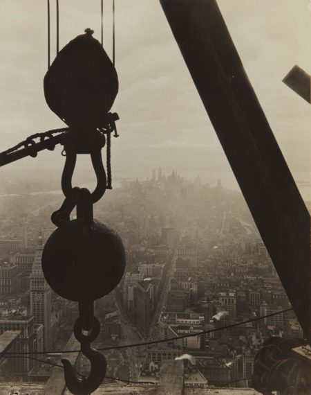 The view onto Lower Manhattan from the Empire State Building-1930
