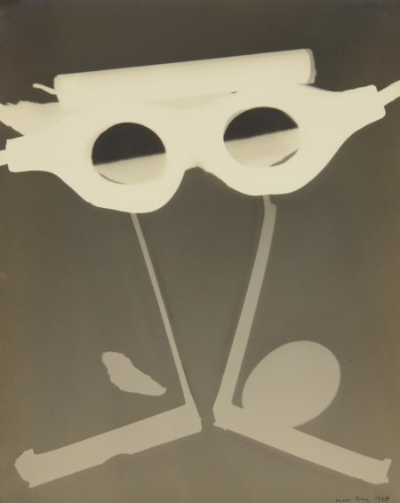 Man Ray-Rayograph with Goggles, Egg and Candle-1924
