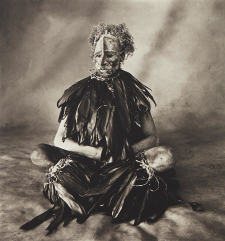 Irving Penn-Sitting Man with Pink Face, New Guinea-1970