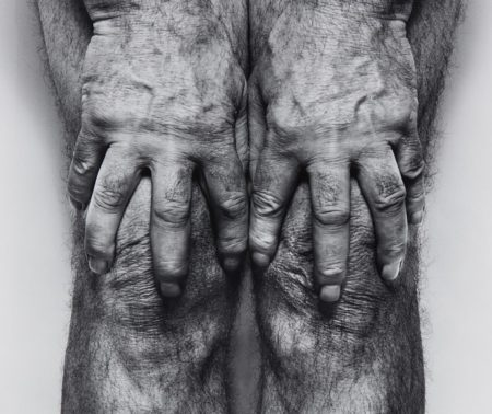 John Coplans-Self-Portrait (Hands spread on knees)-1985