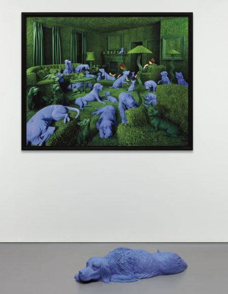 Sandy Skoglund-The Green House and Setter Lying Down-1990