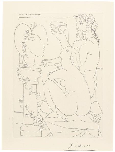 Pablo Picasso-Sculpteur Avec Coupe Et Modele Accroupi (B. 152; Ba. 304)-1933