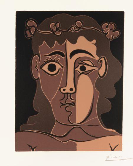Pablo Picasso-Jeune Homme Couronne De Feuillage (B. 1087; Ba. 1307; Pp. L-128)-1962