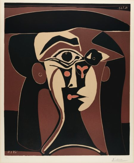 Pablo Picasso-Jacqueline Au Chapeau Noir (B. 1028; Ba. 1311; Pp. L-132)-1962