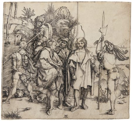 Albrecht Durer-Five Soldiers And A Turk On Horseback (B. 88; M., Holl. 81)-1495