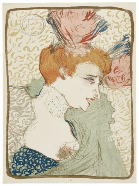 Henri de Toulouse-Lautrec-Mademoiselle Marcelle Lender, En Buste (Wittrock 99; Delteil 102; Adriani 115)-1895