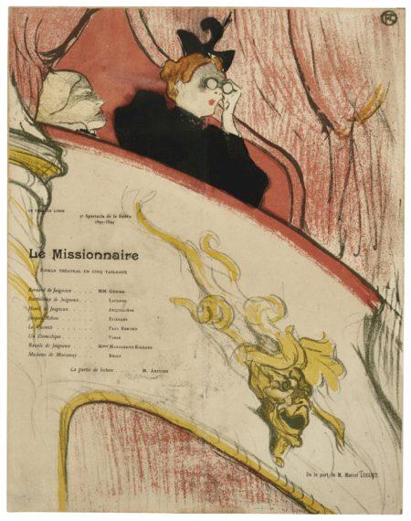 Henri de Toulouse-Lautrec-La Loge Au Mascaron Dore (W., D. 16; Adr. 69)-1893