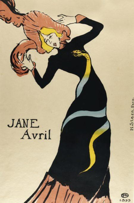 Henri de Toulouse-Lautrec-Jane Avril (W. P29; D.367; Adr. 354)-1899