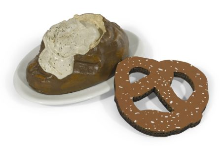 Claes Oldenburg-Baked Potato (Solway 3); And N.Y.C. Pretzel (A. & P. 250.4)-1966