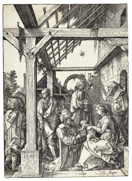 Albrecht Durer-The Adoration Of The Magi (B. 3; M., Holl. 208)-1511
