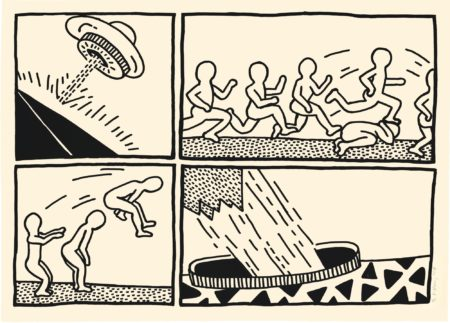 Keith Haring-The Blueprint Drawings (#3) (L. P. 176)-1990
