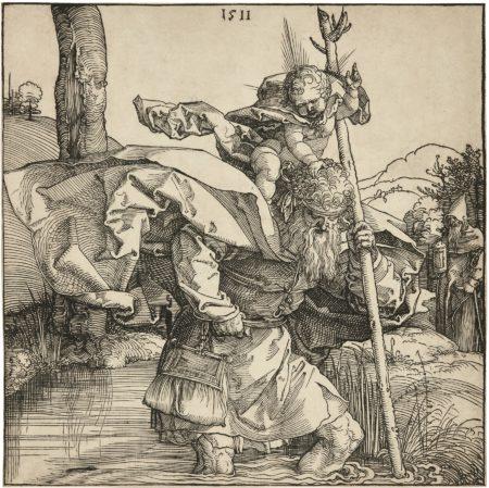 Albrecht Durer-Saint Christopher (B. 103; M., Holl. 223)-1511