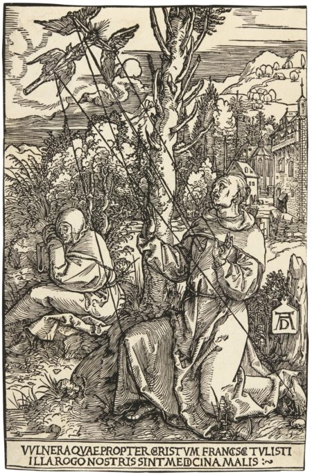 Albrecht Durer-Saint Francis Receiving The Stigmata (B. 110; M., Holl. 224)-1504