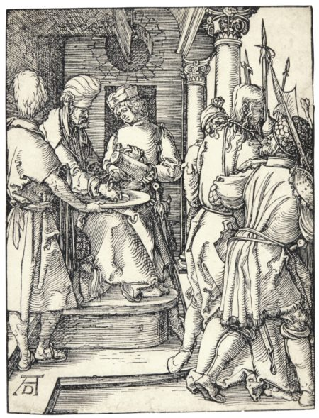 Albrecht Durer-Pilate Washing His Hands (B. 36; M., Holl. 145)-1509