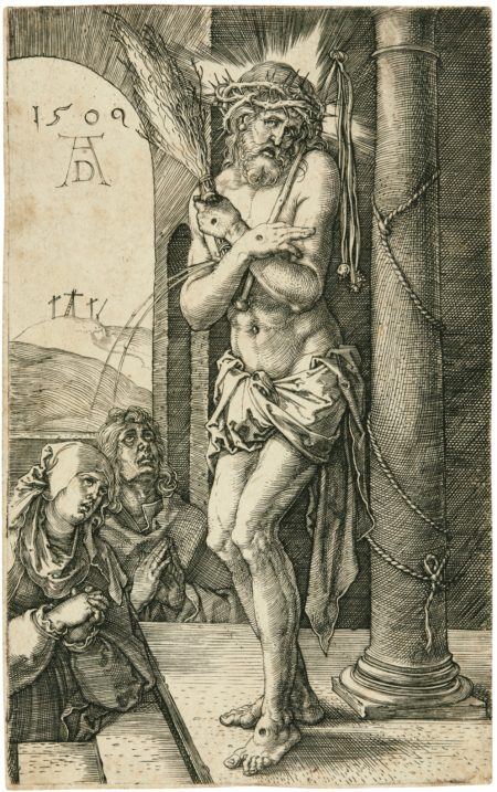 Albrecht Durer-The Man Of Sorrows Standing By The Column (Bartsch, Meder, Hollstein 3)-1509