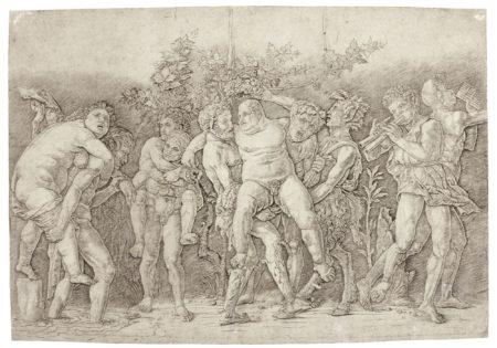 Andrea Mantegna-A Bacchanal With Silenus (Bartsch 20; Hind 3; Martineau 75)-1470