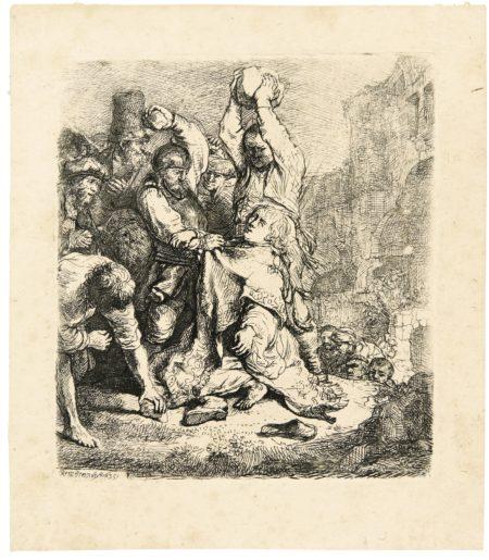 Rembrandt van Rijn-The Stoning Of Saint Stephen (B., Holl. 97; New Holl. 140; H. 125)-1635