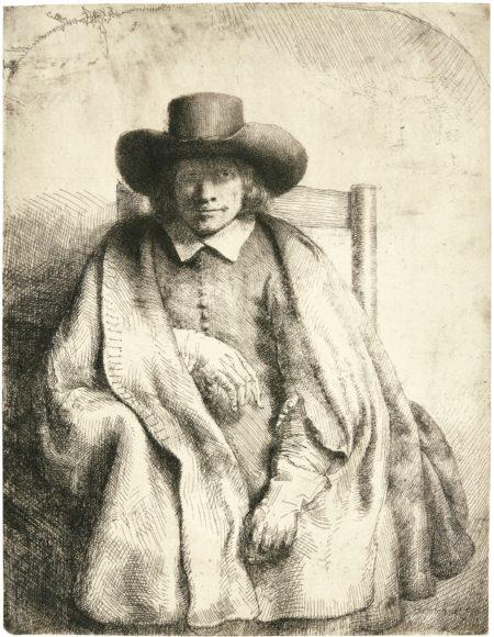 Rembrandt van Rijn-Clement De Jonghe, Printseller (B., Holl. 272; New Holl. 264; H. 251)-1651