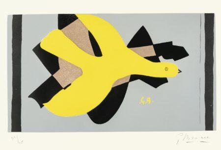 Georges Braque-L'Oiseau Et Son Ombre II (Vallier 157)-1961