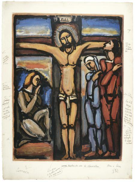 Georges Rouault-Le Christ En Croix (C. & R. 286)-1936