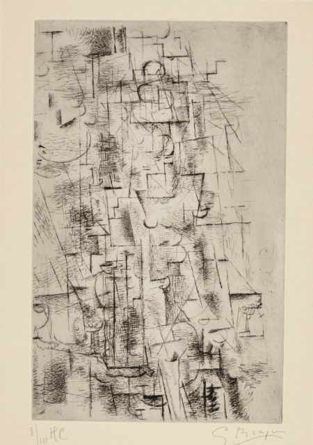 Georges Braque-Composition (Nature Morte I) (V. 8)-1911
