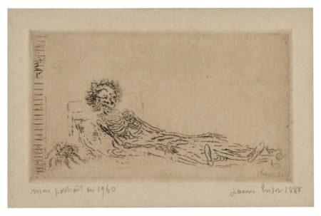 James Ensor-Mon Portrait En 1960 (Delteil, Tavernier, Elesh 34)-1888