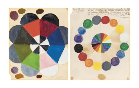 Alfred Jensen-Untitled (The Atmospheric Variants In The Colour Hues)-1952