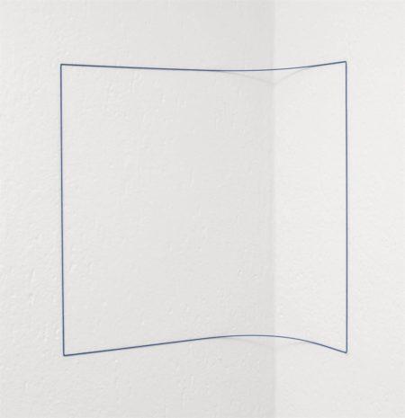 Fred Sandback-Blue Day-Glo Corner Piece-1968