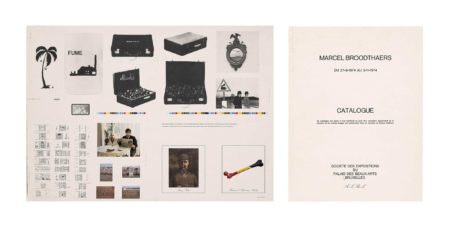 Marcel Broodthaers-Catalogue - Catalogus, Palais Des Beaux-Arts, Du 27/9.74 Au 3/11/74-1974