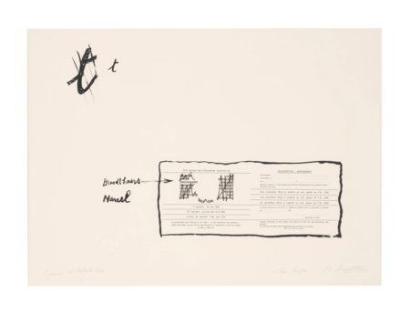 Marcel Broodthaers-La Faute D'Orthographe (Mea Culpa) (The Spelling Mistake (My Fault))-1964