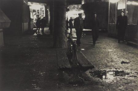 Robert Frank-Paris, Boulevard De Clichy (Derriere Les Baraques De Foire, Pigalle)-1949