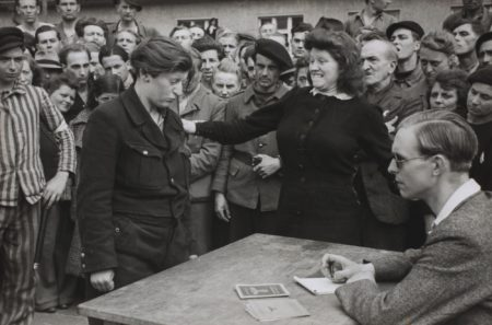 Gestapo Informer Recognized By A Woman She Had Denounced, Deportation Camp, Dessau-1945