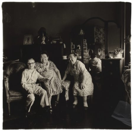 Diane Arbus-Russian Midget Friends In A Living Room On 100Th St, Nyc-1963